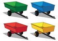 Small utility trailer Stock Images