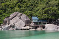 Small villa on the beach of island in tailand Royalty Free Stock Images