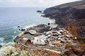 Small village on the coast el hierro canary islands Stock Image