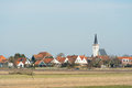 Small village den hoorn dutch wadden island texel Stock Images