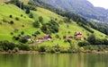 The small village on the hills around Lake Luzern Royalty Free Stock Photos