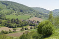 Small village in hohenlohe high angle view of a idyllic southern germany Stock Image