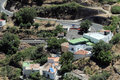 Small village in the mountains in canary islands spain Royalty Free Stock Photos