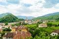 Small village in wachau witch church lower austria Royalty Free Stock Photo