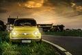 Small vintage italian car Fiat Abarth Royalty Free Stock Photo