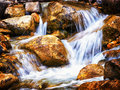 Small waterfall beautiful in austria closeup Royalty Free Stock Photography