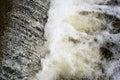 Small waterfall beautiful nature on a lake Royalty Free Stock Photo