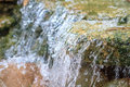 Small waterfall in a garden Royalty Free Stock Photo