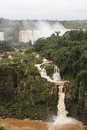 Small waterfall at iguazu falls veiw from brazil Royalty Free Stock Photo