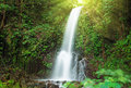 Small waterfall in jungle near lake maninjau west sumatra indonesia Stock Images