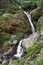 Small waterfall in manaslu region in nepal Stock Image