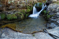 Small waterfall near morcuera madrid spain mountain pass Stock Photography