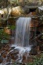 Small waterfall in a park in Lower Saxony, Germany Royalty Free Stock Image
