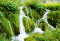 Small waterfall at Plitvice national park Stock Photo