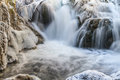 Small waterfall in winter Royalty Free Stock Photography