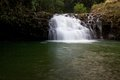 Small waterfalls on the north side of maui hawaii first set along path to twin falls in Royalty Free Stock Photo