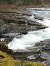 Small waterfalls, where is  all the salmon Royalty Free Stock Photo