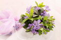 Small wedding bouquet violets forget me not Royalty Free Stock Images