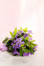 Small wedding bouquet violets forget me not Stock Photo