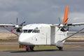 Small white cargo plane Royalty Free Stock Photo