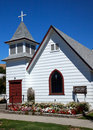 Small White Christian Church Palouse Washington Stock Image