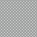 Small White Polka Dots On Grey