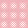 Small White Polka dots on Pastel Light Pink