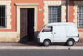 Small white van Royalty Free Stock Photo