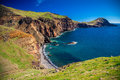 Small wild beach at Ponta de Sao Lourenco Royalty Free Stock Photo