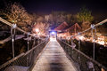 Small wood bridge in takaragawa onsen gunma japan Royalty Free Stock Photo