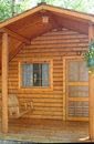 Small wood cabin Royalty Free Stock Photos