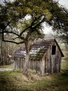 Small wooden Barn Stock Images
