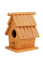 Small wooden birdhouse Royalty Free Stock Photo