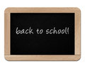 Small wooden blackboard on white background Stock Photo