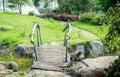 Small wooden bridge Royalty Free Stock Photo