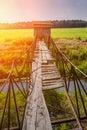 Small Wooden Broken Bridge