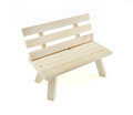 Small wooden chair Royalty Free Stock Photo
