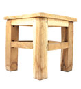 small wooden chair isolated Royalty Free Stock Photo