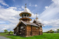 Small wooden church at Kizhi, Russia Royalty Free Stock Photo