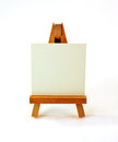 Small wooden easel Stock Photography