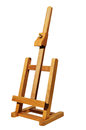 Small wooden easel on a white background Stock Photos