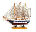 Small wooden ship boat model Royalty Free Stock Images