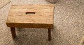 Small wooden step stool. Royalty Free Stock Photo