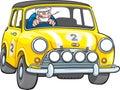 Small Yellow Racing Car