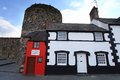 Smallest house the in the united ingdom in wales at conwy casle Royalty Free Stock Photography