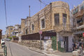 Smalll street in the vadi nisnas quarter haifa israel may a residentional on may old city of wadi is an arab Royalty Free Stock Images