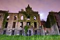 Smallpox hospital ruins from the on roosevelt island in new york city Royalty Free Stock Images