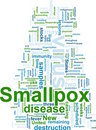 Smallpox word cloud Royalty Free Stock Photo