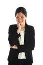 Smart asian businesswoman or education student isolated Royalty Free Stock Photos