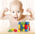 Smart Baby Playing Toy Blocks, Strong Healthy Child Success